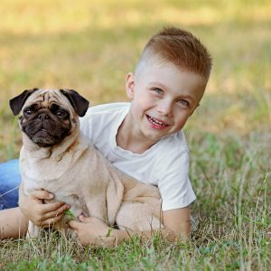 Boy with Pug