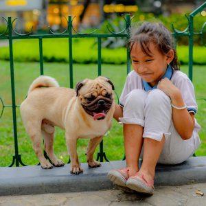 Girl with Pug