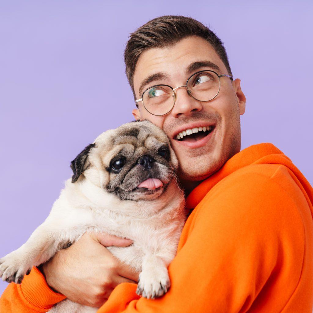 Happy Guy with Pug