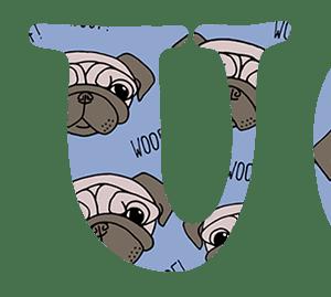 Pug Text Wallpaper 80 percent cropped