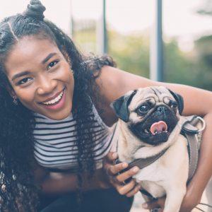 Pug with Girl